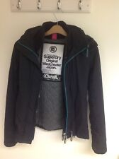 Superdry Original Windcheater Womens XSmall, Black with Fur Lined Hood