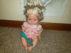 """Vintage 13"""" Kenner """"Baby All Gone"""" Doll 1991 with Spoon"""