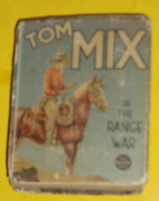 Tom Mix in the Range War 1937 Hal Arbo Pictures Big Little Book! Nice See!