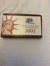 2002 US MINT SILVER PROOF SET with COA