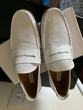 Steve Madden Mens Size 12 White Loafers / Slip On Shoes / Driving Moccasins