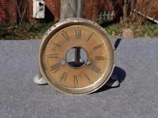 Ansonia Nickel Dial Pan Shelf Cabinet Mantle Parlor Clock Original Paper Dial