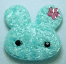 20 Cute Lt Blue Padded Furry Rabbit Bunny Appliques Craft