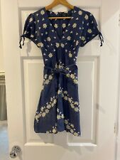 Iconic Kate Moss For Topshop Blue Daisy Dress Size 10