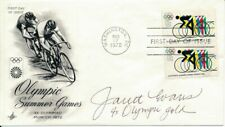 Janet Evans Olympic Swimming Signed 1979 First Day Cover/FDC 151279