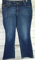 Lane Bryant Distinctly Boot Dark Wash Denim Jeans Plus Size 18 Average EUC C0718