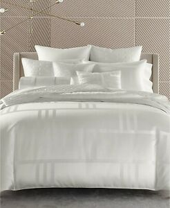 $420.00 Hotel Collection Structure Duvet Cover, King, Pearl White