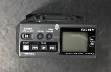 Sony DSR-DU1 DVCAM Compact Video Disk Unit + Sony DA-CU1 Camera Adaptor