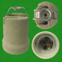 10x Edison Screw E27 ES Ceramic Socket Light Bulb M10 Bracket Lamp Holder