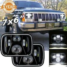 "2x 150W 7x6"" 5X7"" LED Headlights High Low Beam For Jeep Wrangler Cherokee XJ YJ"