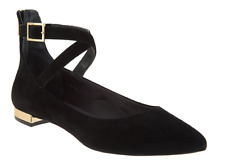 Rockport Total Motion Suede Pointed Toe Flats Black Adelyn Women's Size 5 New