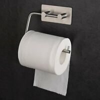 Self Adhesive Toilet Paper Roll Holder Tissue Roll Hanger Brushed Nickel