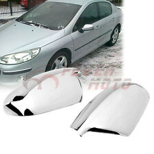 Triple Chrome Plated Rearview Mirror Cover For Peugeot 307/307CC/SW/407 04-08 FM