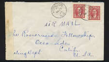 MONCTON N.B. 1942 CENSORED COVER to CALIFORNIA