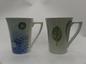 (ref288MG1) Pair of Portmeirion mugs The Seasons and Beachcomber