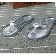 Summer Women Transparent Flip Flops Jelly Sandal Flats Shoes Clear Slippers Size