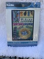 "Bless This Nest - Mini Cross Stitch Kit 5"" x 7"" - Bucilla WM45524 - New & Sealed"