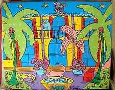 "Key West Original Acrylic on Canvas Hemingway House Cats Rene Blais ""Marin"""