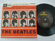 """BEATLES EXTRACTS FROM THE ALBUM A HARD DAYS..UK REISSUE EP 7"""" VINYL SOLID CENTRE"""
