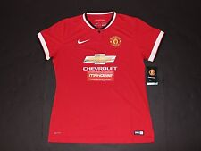 New Women's Nike Manchester United 2014 Jersey Shirt Manu Football Soccer Size L