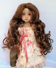 Monique GINGER Wig 7/8 for Little Darlings Kish BJD BJD Ellowyne Reddish Brown