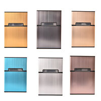 20x Stylish Men's Metal Pocket Cigarette Case Box Tobacco Holder Container FGHN