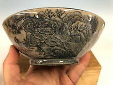 Hand Painted Shohin Size Bonsai Tree Pot By Ishida Shoseki 6 3/4�