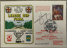 More details for liverpool v west ham united 1981  first day cover signed by ray kennedy
