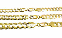 """Solid 14k Yellow Gold 5MM-8MM Curb Chain Cuban Link Necklace 16""""-30"""""""