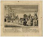 Antique Master Print-GENRE-PLACE MAUBERT-PARIS-MARKET-FRANCE-Anonymous-ca. 1720
