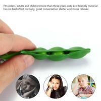 Süße Squishy Peas Pod Schlüsselanhänger Edamame Keychain Mochi Bean Fidget Toy