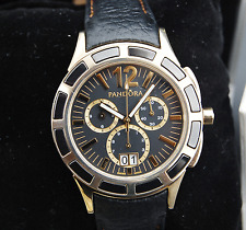 Genuine Pandora Watch Imagine Grand C Gold/Black with Ceramic Bezel - 812005BK