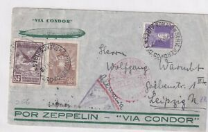 ARGENTINA, 1934 ZEPPELIN FLOWN COVER TO GERMANY