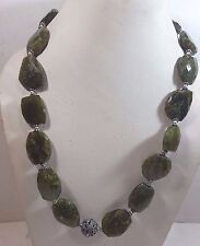 Natural Grossular Garnet Faceted Fashion Necklace