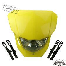 Supermoto Streetfighter Headlight Head Lamp Fairing Yellow For SUZUKI DRZ RMZ RM