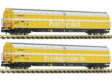 Fleischmann N 838312 set 2 Vagón de paredes correderas post / PTT SBB EP VI