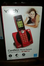 VTech Red Cordless Phone Caller ID Landline Home Office Telephone CS6919-16