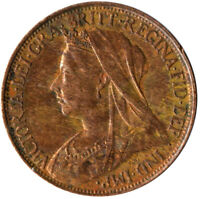 1896 ONE FARTHING OF QUEEN VICTORIA / VERY NICE COLLECTIBLE COIN #WT2313