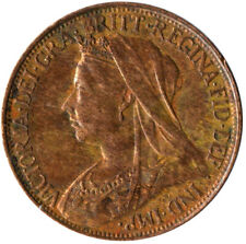 More details for 1896 one farthing of queen victoria / very nice collectible coin #wt2313