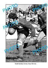 OLD LARGE PHOTO, SOUTH SYDNEY RABBITOHS GREAT GARY STEVENS c1970s
