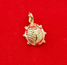 NEW 9ct Yellow Gold Lady bug Charm 375 Lucky Pendant 9K 9KT Free Postage Option