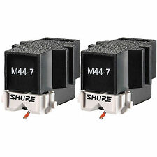 2x Shure M44-7 Phono Turntable Cartridges M447 DJ Battle Needle Stylus M-447