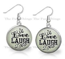 Live Love Laugh Lots Dangle Earrings Handcrafted Custom Statement Jewelry