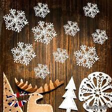 30PCS Natale Bianco Fiocchi di neve Decorazioni 11CM Albero Festa Ornamenti UK