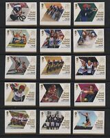 GB 2012 Olympic Gold Medal winners stamps complete set 29 single Mint stamps