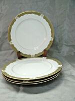 """Vtg Wyndham MONET Set of 4-10+"""" Dinner Plates #418 Fine China Japan Gold NWOT"""