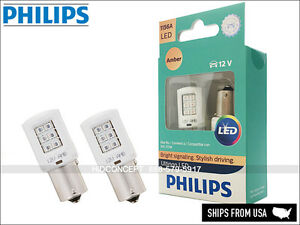 1156 PHILIPS ULTINON Turn Signal LED Bulbs AMBER 1156AULAX2 Pack of 2