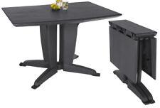 Garten Klapptisch anthrazit schwarz aufklappbarer Tisch Esstisch Gartenmöbel NEU