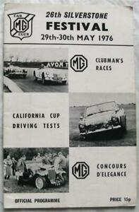 SILVERSTONE 29/30 May 1976 26th MG Car Club Festival Official Programme