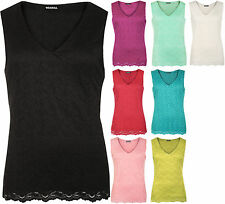 Women's Sleeveless V Neck Casual Vest Top, Strappy, Cami Tops & Shirts